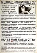 Leoncavallo contro i padroni della città, manifesto