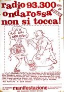 Radio Onda Rossa non si tocca, manifesto