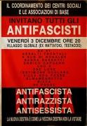 Roma antifascista, antirazzista, antisessista, manifesto