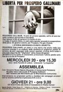 Libertà per Prospero Gallinari, manifesto