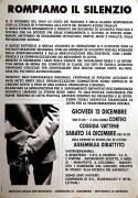12 Dicembre rompiamo il silenzio, manifesto