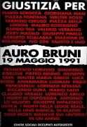 Auro Bruni 19 Maggio 1991, manifesto