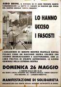 Auro lo hanno ucciso i fascisti, manifesto