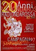 20 anni Radio Onda Rossa, manifesto