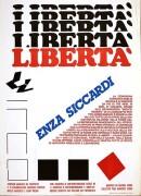 libertà per enza siccardi, manifesto