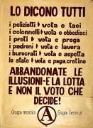 è la lotta non il voto a decidere, manifesto