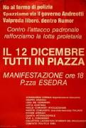 il 12 dicembre tutti in piazza, manifesto