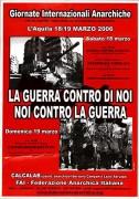 La guerra contro di noi, noi contro la guerra indetta dall'IFA, Manifesto