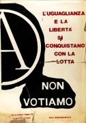 non-votiamo, manifesto