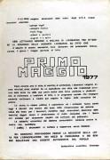 1° Maggio '77, manifesto
