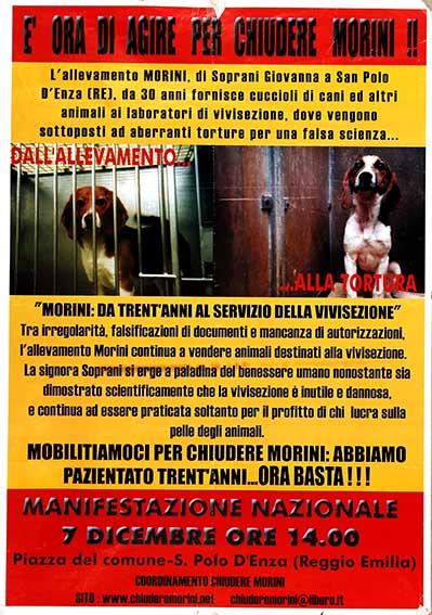 Chiudere Morini, manifesto