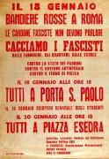 Cacciamo i fascisti, manifesto