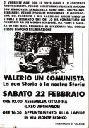 Valerio un comunista, Manifesto