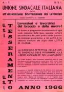 Tesseramento U.S.I. A.I.T. - Manifesto
