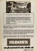 solidarietà con gli assistenti di volo alitalia, Manifesto