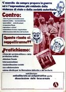 mobilitazione antimilitarista ed antipatriottica per la dissociazione delle forze armate manifesto