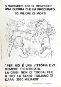 4 novembre 1918: si conclude una guerra che ha procurato solo morti manifesto