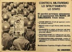 contro il militarismo, lo sfruttamento, lo stato manifesto