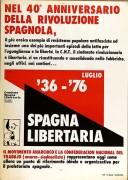 nel 40° anniversario della rivoluzione spagnola manifesto