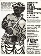 libertà per i 12.000 proletari neri arrestati a los angeles manifesto