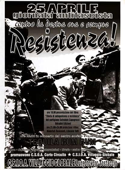 25 aprile giornata antirazzista manifesto
