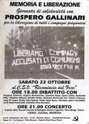 giornata di solidarietà con prospero gallinari manifesto