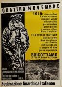 4 novembre: boicotta la festa della guerra manifesto