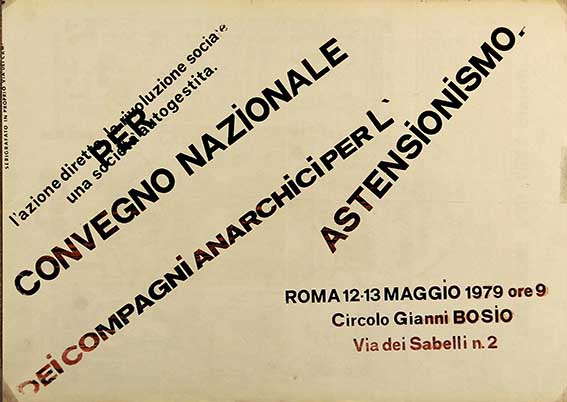 anarchici per l'astensionismo, manifesto