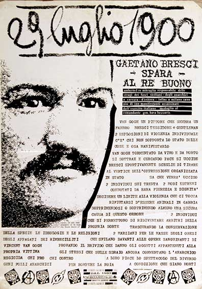 Gaetano Bresci, manifesto