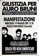 Giustizia per Auro Bruni, manifesto