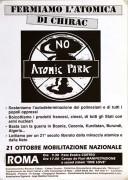Fermiamo l'atomica di Chirac, manifesto