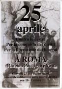 25 Aprile, manifesto