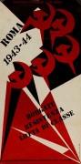 Roma 43/44 borgate resistenza lotta di classe, manifesto