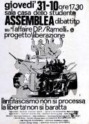 L'antifascismo non si processa, manifesto