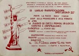Fuori la n.a.t.o. dall'italia, manifesto