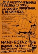Se la giustizia borghese è violenza di stato, la giustizia proletaria è resistenza, manifesto