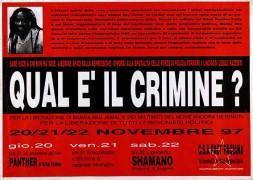 Quale è il crimine? Per la liberazione di Mumia Abu Jamal e dei militanti del Move, manifesto