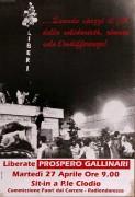 Liberate Prospero Gallinari, manifesto