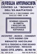 (S)veglia antifascista contro la bonifica dell'ex Mattatoio, manifesto