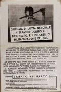 Giornata di lotta nazionale a Taranto contro le basi N.a.t.o., manifesto