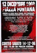 12 Dicembre '69 per non dimenticare Piazza Fontana, manifesto