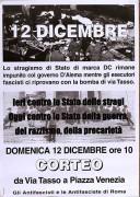 12 Dicembre, manifesto