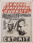 """Sémana confederal """"Durruti"""", manifesto"""
