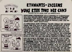 Etudiants-lyceens, manifesto