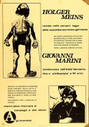 Giovanni Marini, manifesto