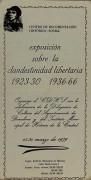Exposicion sobre la clandestinidad libertaria 1920/30 - 1936/66, manifesto