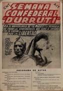 """Semana confederal """"Durruti"""", manifesto"""