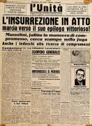 prima pagina de l'unità 26 aprile 1945 manifesto