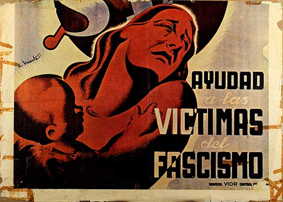 Ayudad a las victimas del fascismo, manifesto