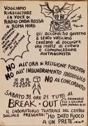 La voce di Radio Onda Rossa a Roma Nord, manifesto